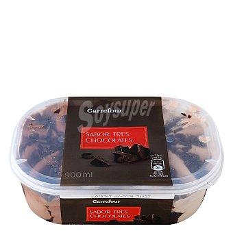 Carrefour Helado 3 chocolates 900 g