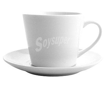 QUID Renova 4 tazas de café de porcelana blanca con plato,40cl, Renova QUID.