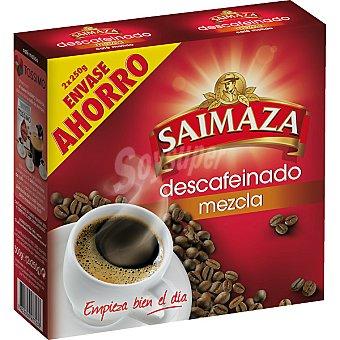 SAIMAZA café descafeinado molido mezcla pack 2 paquete 250 g