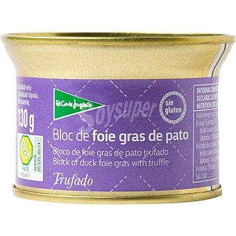 El Corte Inglés Bloc foie gras de pato trufado envase 130 g Envase 130 g