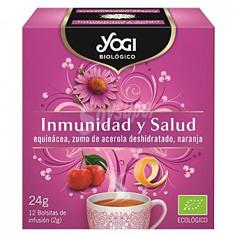 Salud Infusión inmunidad y en bolsitas ecológica Yogi 12 ud 12 ud