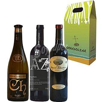 GRAN DOLINA Vino tinto Arpelaza y Finca David Sebastian + vino blanco Termino de Miranda Estuche 3 botellas 75 cl Estuche 3 botellas 75 cl