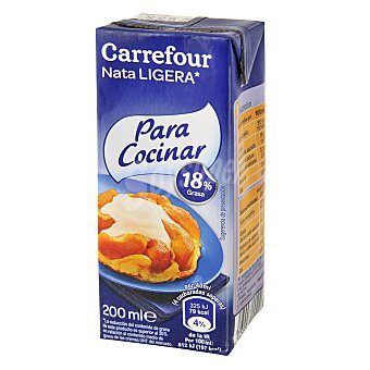 Carrefour Discount Nata cocinar 18% MG Brik 200 ml