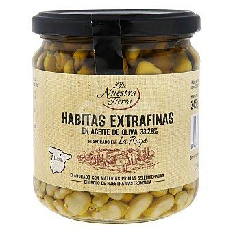 De nuestra tierra Habitas extrafinas en aceite de oliva 345 g