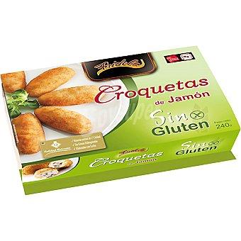 Fridela Croquetas de jamón sin gluten Bandeja 240 g