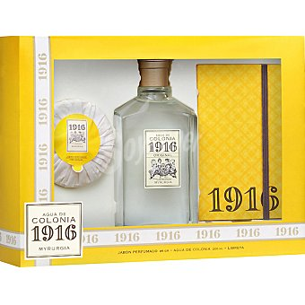 Myrurgia 1916 Agua de colonia original femenina frasco 200 ml + pastilla de jabón perfumada 85 g + libreta Frasco 200 ml