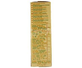 Zanuy Palomitas de maíz con sal para microondas de producción ecológica Pack de 3 unidades de 90 gramos