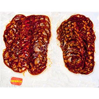 Eroski Chorizo ibérico picante Pack 2x200 g