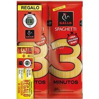 GALLO Spaghetti 3 min + regalo pack 2 800gr