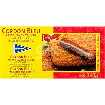 Hipercor Cerdo, jamón y queso 4 escalopes Cordón Bleu Estuche 360 g