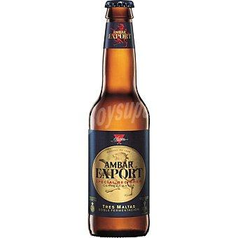 Ambar Cerveza export doble fermentación Botella 33 cl