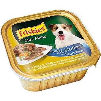 FRISKIES MINI MENU Para perro con pollo en gelatina y verduras tarrina 150 g Tarrina 150 g