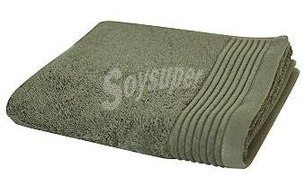 Auchan Toalla de ducha rizo 100% algodón biológico color visón, 520 g/m² de densidad, 70x140 centímetros 1 unidad