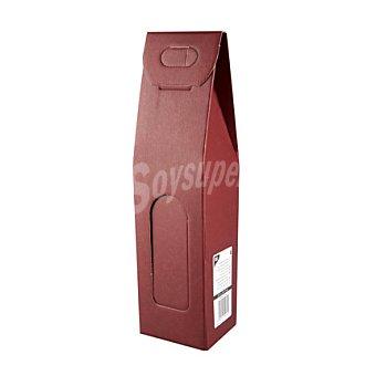 Papstar Estuche vacío para 1 botella de vino color burdeos 1 ud