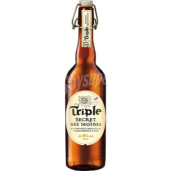 TRIPLE SECRET DES MOINE cerveza rubia francesa  botella 75 cl