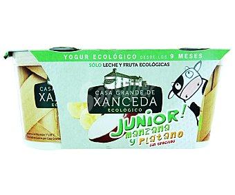 Casa Grande de Xanceda Yogur Junior cremoso con manzana y plátano Pack 2 unidades 125 g