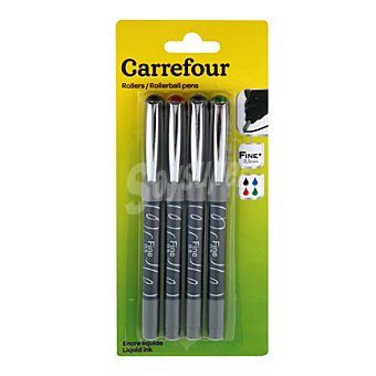 Carrefour Roller 0,5 mm Pack Colores Surtidos 4 ud