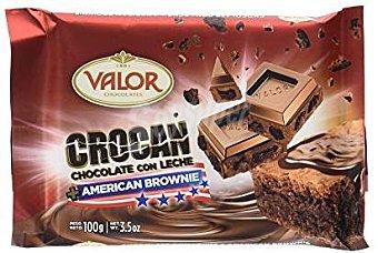 Valor Crocan Pocket Brownie Tableta 100 g