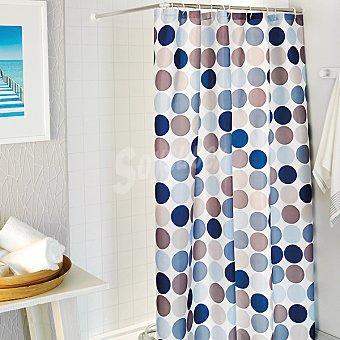 CASACTUAL Teresa cortina de baño estampada en tonos azules