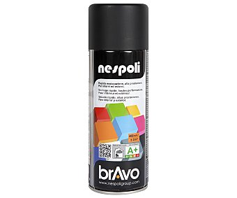 Bravo Pintura en Spray Color Negro Mate 400 Mililitros