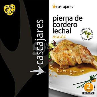 CASCAJARES Pierna de cordero lechal asada en aceite de oliva 2 raciones Lata 850 g