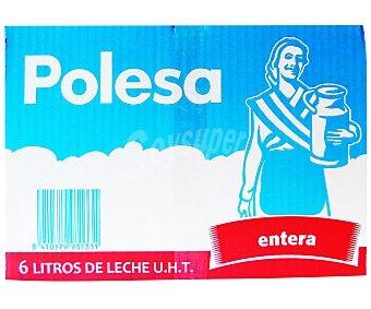 Polesa Leche entera 6 x 1 l
