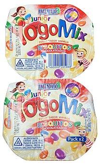 Hacendado Yogur yogomix vainilla disquitos (chocolate) Pack 2 x 150 g - 300 g