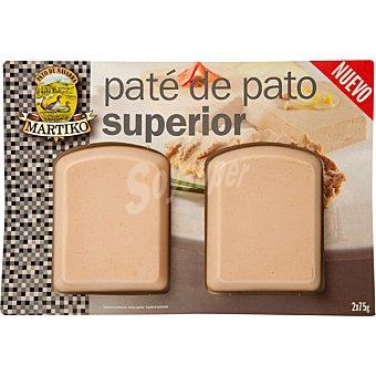 Martiko Paté de pato superior 2 x 75 g (envase 150 g)