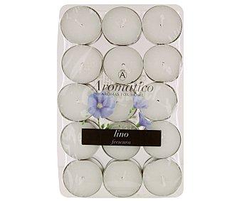 AROMÁTICO Velas calientaplatos o teelights perfumadas con olor a lino Pack de 30 Unidades