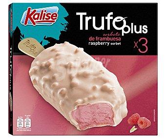 Kalise Bombón helado de fresa y sorbete de frambuesa, recubierto de yogur 3 x 75 g