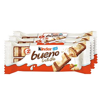 Kinder Bueno Barritas de chocolate blanco con leche Pack 3 ud - 117 g