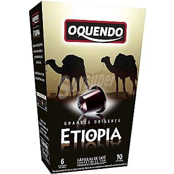 Oquendo Café 10 cápsulas compatibles con máquinas Nespresso  GRANDES ORIGENES Etiopía 10 cápsulas (estuche 85 g)
