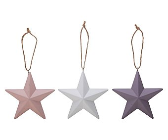 Actuel Colgante de árbol de navidad con forma de estrella, disponible en varios colores, actuel.