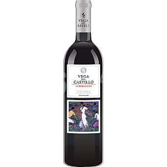 VEGA DEL CASTILLO Vino tinto tempranillo D.O. Navarra Botella 75 cl