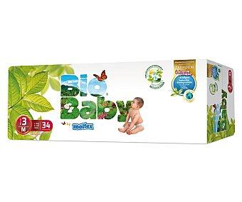 Moltex Pañales biodegradables talla 3 (7-10 kilogramos) 34 unidades