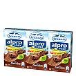 Batido de soja sabor chocolate sin colesterol con Calcio Pack 3 envase 250 ml Alpro Asturiana