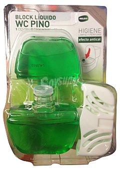 Relevi Block liquido wc completo + un recambio aroma pino Pack 2 x 55 cc - 110 cc + UN soporte