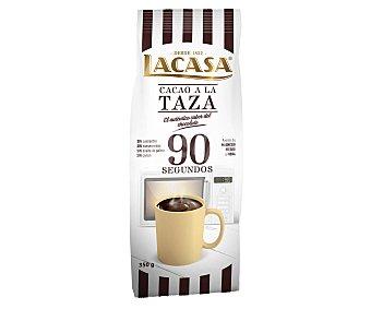 Lacasa Cacao a la taza instantáneo 90 segundos Paquete 350 g