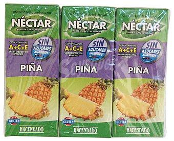 Hacendado Nectar piña sin azucar 6 x 200 cc