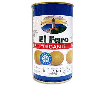 El Faro Aceitunas gigantes rellenas de anchoa Lata 150 g (peso neto escurrido)