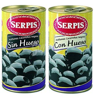 Serpis Aceituna Cacereñas Negras con Hueso 350 g