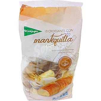 EL CORTE INGLES Croissants de mantequilla 10 unidades (bolsa 300 g)