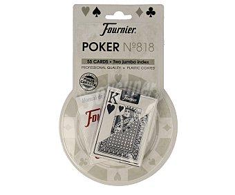 FOURNIER Baraja de póker español/inglés nº818, 55 cartas más un manual de reglas 1 unidad