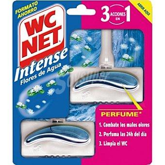 WC NET INTENSE Desinfectante WC 3 en 1 perfume flores de agua aparato + recambio