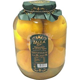 Zalea Real melocotón en almíbar lígero extra entero galon 1260 g neto escurrido