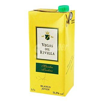 Vegas del Rivilla Vino blanco de la Tierra de Extremadura 1 l