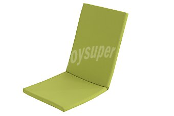 COMATEX Cojín y respaldo para silla modelo Grey Line de color verde lima, de 95x44x3 centímetros, lavable y de gran resistencia al exterior 1 unidad