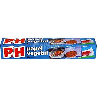 P & H Papel vegetal rollo 10 m 1 unidad de 10 metros