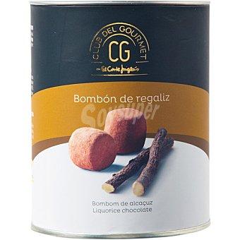 Club del gourmet Bombón de regaliz con chocolate negro 70% cacao bote 80 g bote 80 g