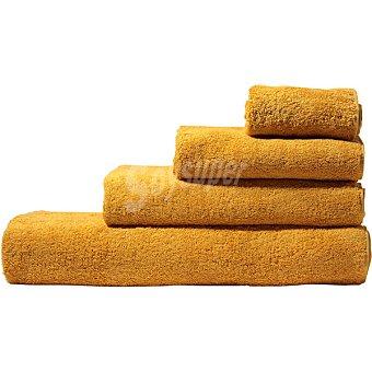 Unit Rubi toalla sabana rizo americano lisa color mostaza
